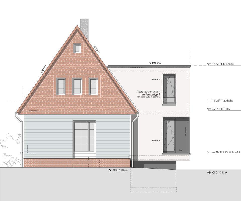 Ansicht Hofseite - Projekt Boelnke Dresde