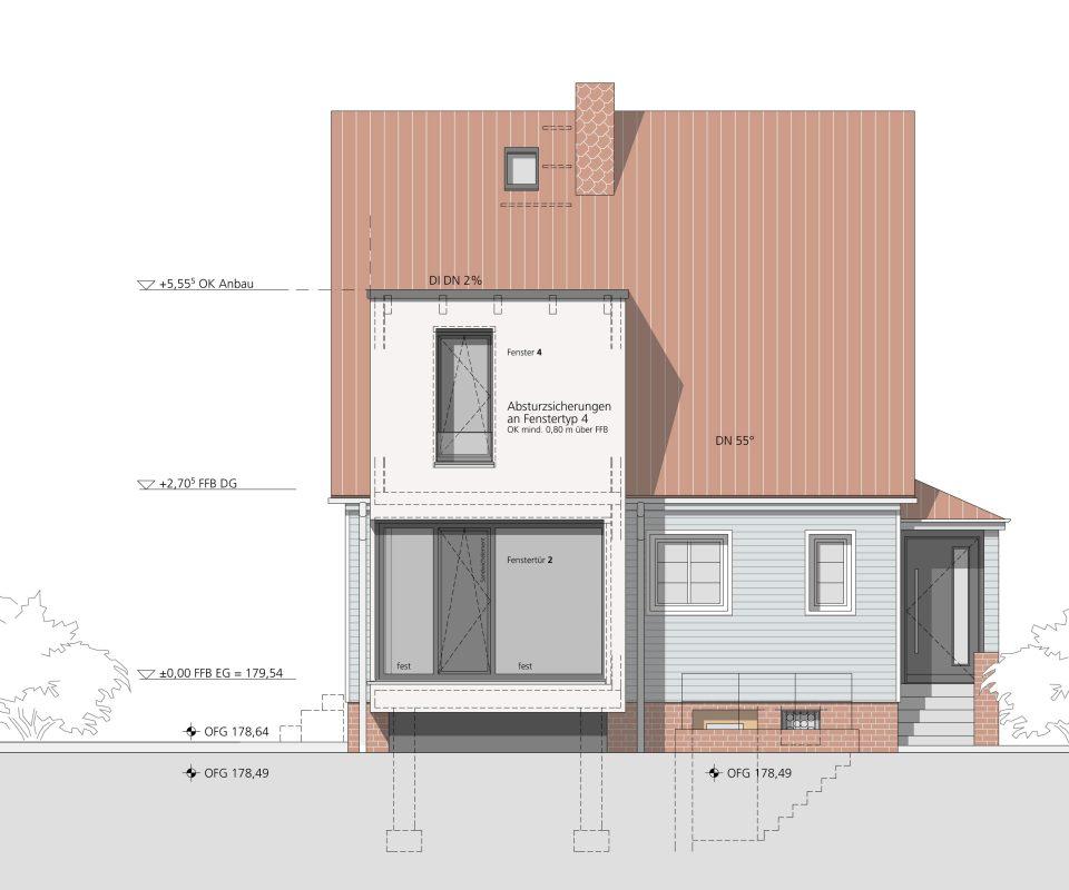 Ansicht Hofseite - Projekt Boelnke Dresden -1
